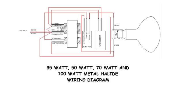 Wiring A 35w 50w 70w 100w Or 150 W Metal Halide Ballast Landscape Lighting Supply Company